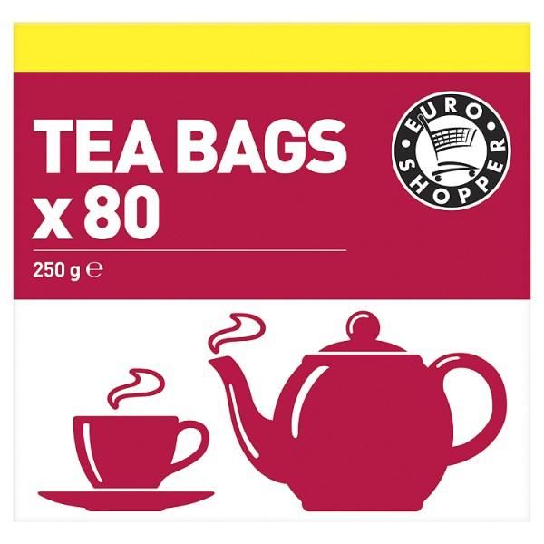 Euro Shopper 80 Tea Bags 250g