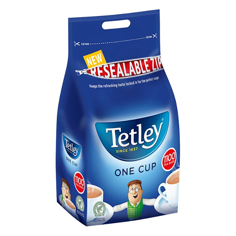 Tetley One-Cup Tea Bags - Pack 1100 (2.5kg)