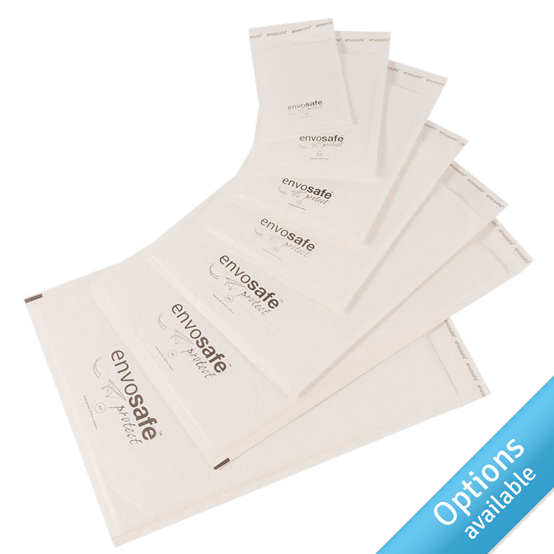 White Envosafe™ Protect Bubble Mailing Bags