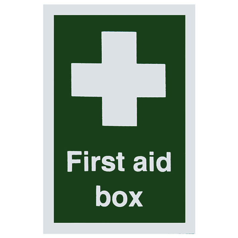 100x150mm First Aid Box S/A Sign