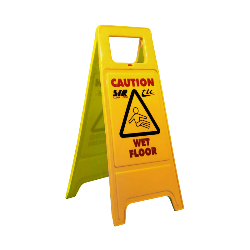 Janitorial Floor Stand - Caution Wet Floor