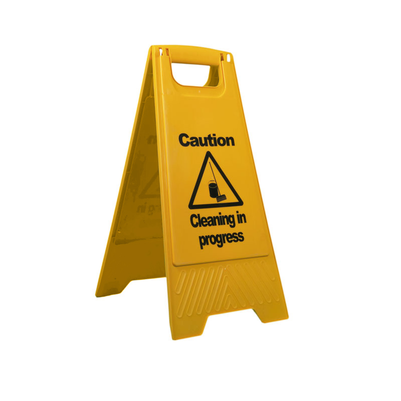 Folding Sign 'Cleaning in Progress'