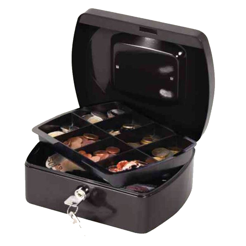 "8"" Cash Box 196x155x87mm Black"