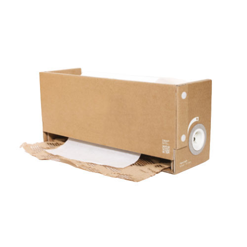 Compact Recyclable Wrapping Dispenser With Expanding Kraft and Tissue Rolls Included