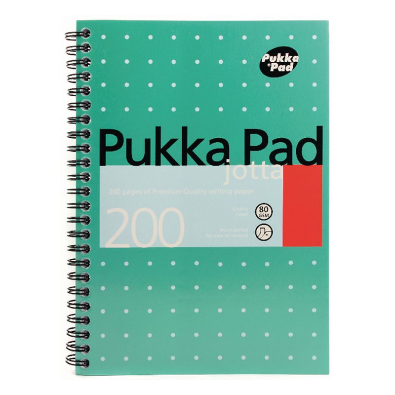 Pukka Jotta Notebook A5 Wirebound Feint Ruled 200 Pages (3 Pack)