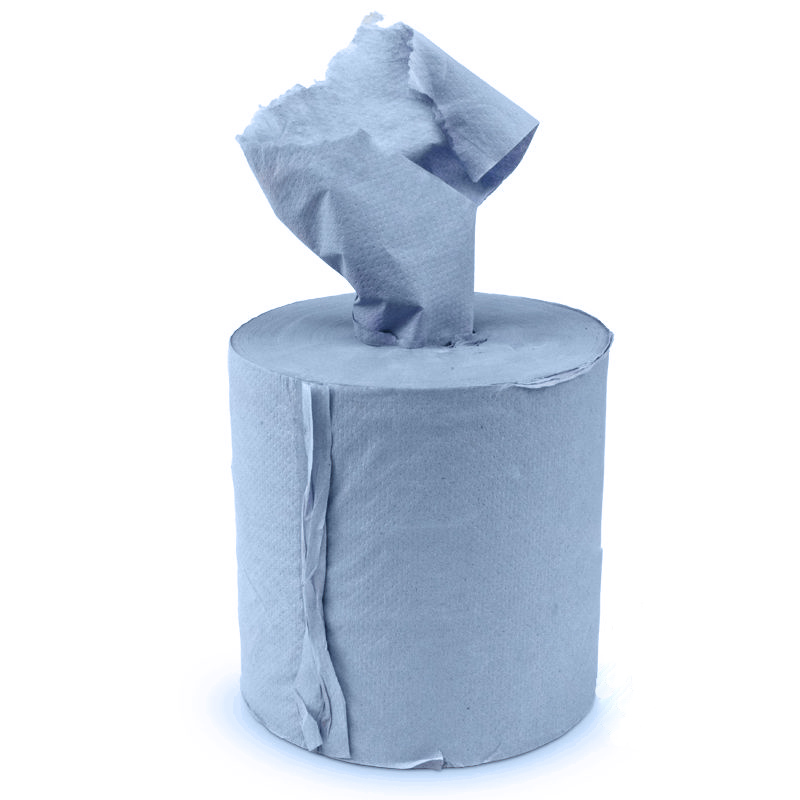 175mmx100m 400 sheet  Blue 2 Ply Centre Feed Paper Towel (6)