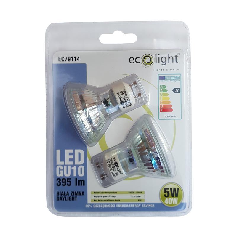 GU10 5W Cool White LED Lamp (Pack Of 2 Bulbs)