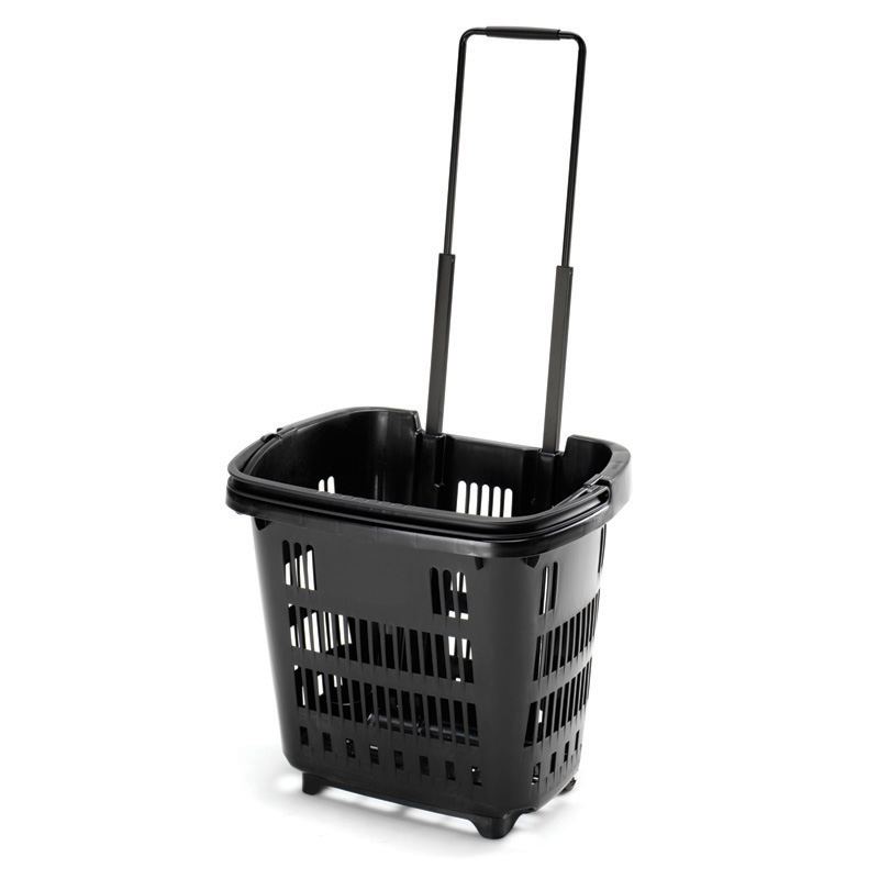 Wheeled Basket 34ltr - Recycled Black