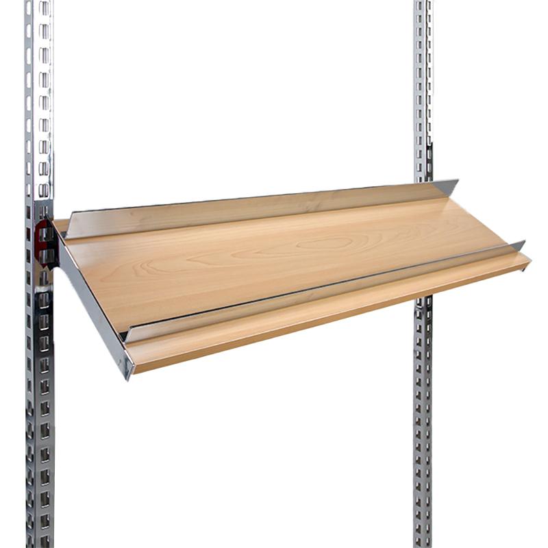 1000x280mm Instore® Elite Warm Maple Sloping Shoe Shelf