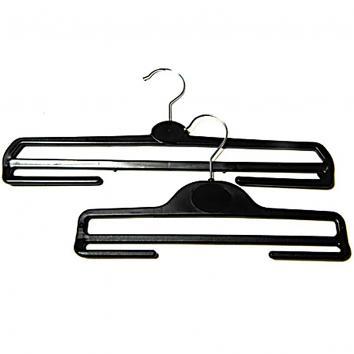 34cm Black Plastic Trouser Hanger