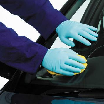 Large Blue Vinyl Gloves - Powder Free  - Pack of 100