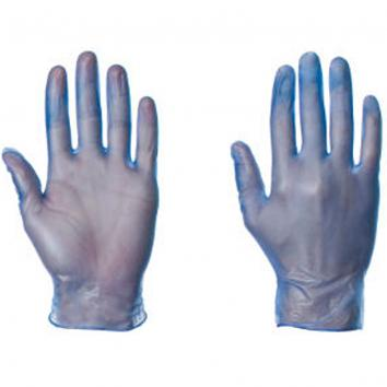 Small Blue Vinyl Gloves