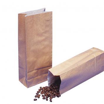 78x132x230mm 0.5lb Coffee Kraft Paper Bags - 1x400