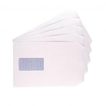 C5 White S/S Window Envelopes (500)