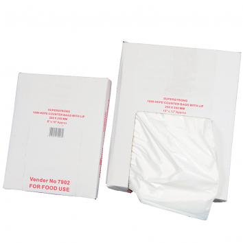 "150x200mm (6x8"") HD Imptd Polythene Bags (1000)"