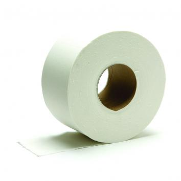 95mmx200m 2 Ply White Jumbo Toilet Rolls - 75MM CORE