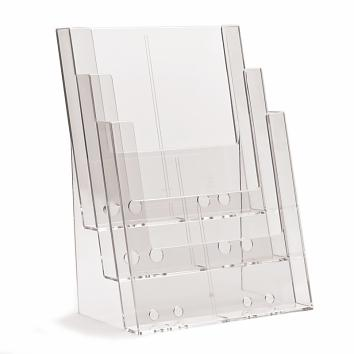A4 3 Tier Free Standing Leaflet Dispenser