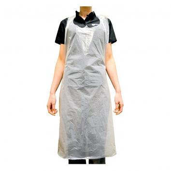 White Polythene Disposable Aprons - Pack of 100