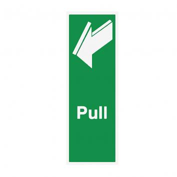 "75x150mm "" Pull"" S/A Vinyl Sign"