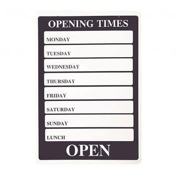 PVC 'Opening Times' Sign - Blue A4