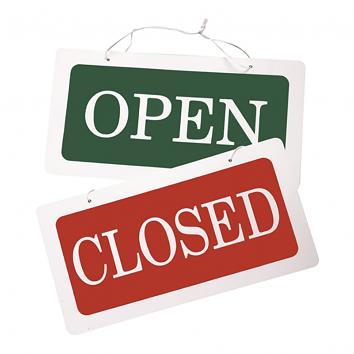 PVC 'Open/Closed' Sign
