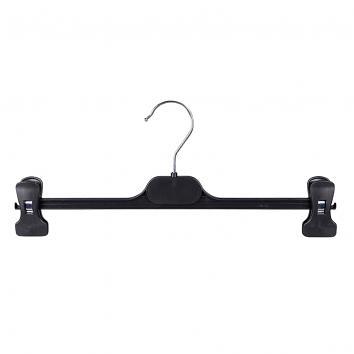 36cm Black Plastic Peg Hanger - 1x100 (100)