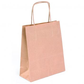 250x100x320mm Brown Kraft Twisted Paper Handle Carriers