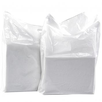 "558x457x76mm (22x18x3"") Fashion White LD Carrier Bags - 1x100"