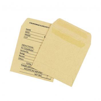 Unprinted Wage Envelope