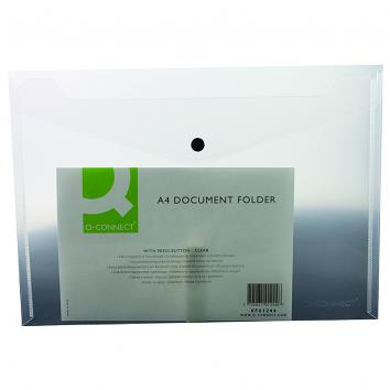 Q-Connect Polyprop Document Folders A4 Clear