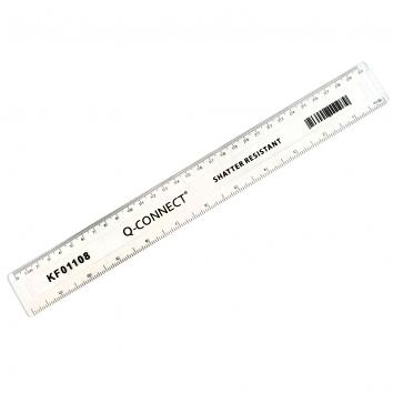 300mm Clear Shatter Resistant Ruler