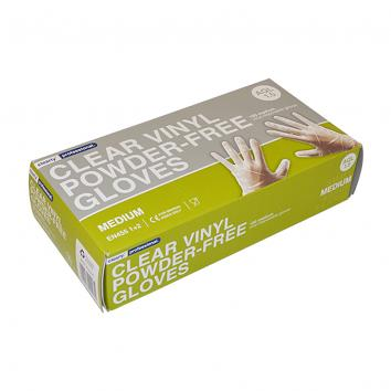 Medium Clear Vinyl Powder Free Gloves (pack of 100)