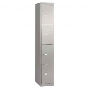 300x300x1800mm Locker - 4 Door Grey/Grey