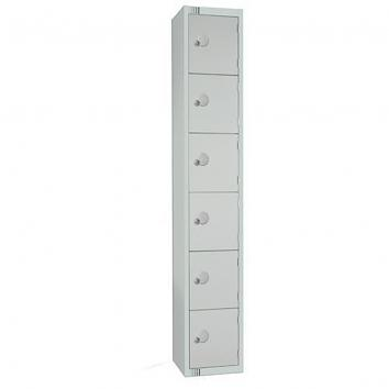300x300x1800mm Locker - 6 Door Grey/Grey