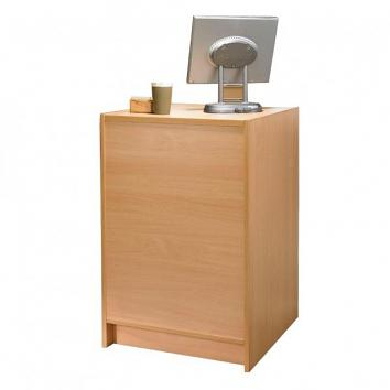 Beech Recessed Till Unit With Adjustable Shelf