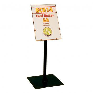 Telescopic, angled A4 portrait head sign holder