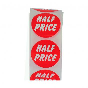 O/D Synthetic Discount Label 'Half Price' p.500 Changed Product Code -was DL8