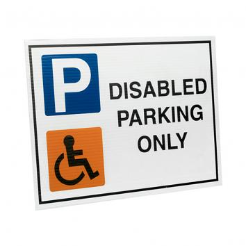 Correx Sign - Disabled Parking Only