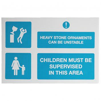 Correx Safety Sign - Heavy Stone Ornaments