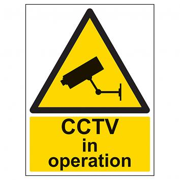 Safety Sign CCTV In Operation  - A4 Rigid PVC