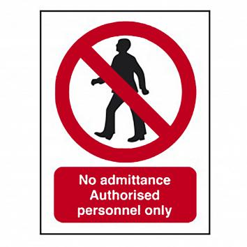 No Unauthorised Persons Sign - A4 Rigid PVC