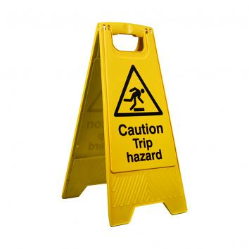 Folding Safety Sign  - 'Caution - Trip Hazard'