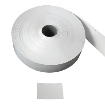 30 x 43.4mm White Unstrung Tickets on a roll of 2,000 (2000)