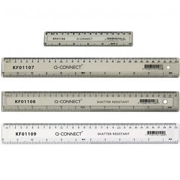 150mm Clear Shatter Resistant Ruler