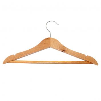 31cm Children's Wooden Suit Hanger with notches and bar