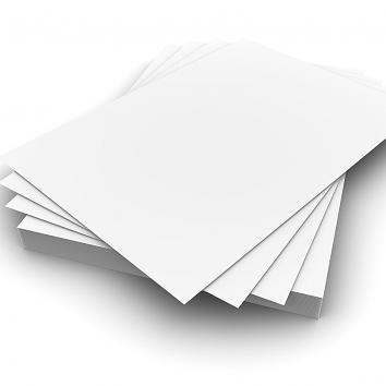 "Plain White 146x197mm 160gsm Card to fit 8x6"" Laminating Pouch p.250 (250)"
