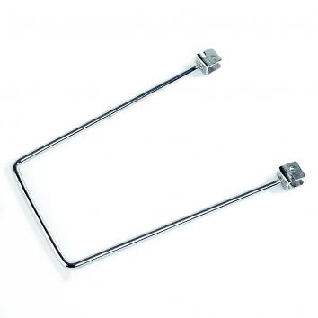 Chrome Flexible Book End For Slotted Upright 200mm - Pair