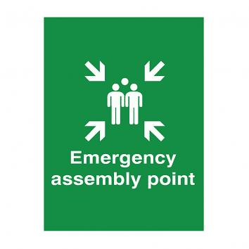 300x250mm Emergency Assembly Point Rigid