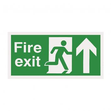 Safety Sign -  Fire Exit  Up  150 x 450 Rigid