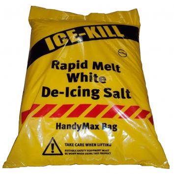 Icekill™ Rapid Melt White De-Icing Salt - 25kg Bag